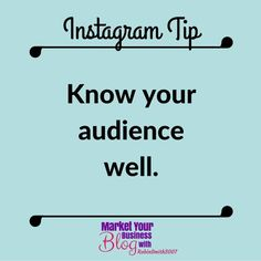 Instagram Tip: Know your audience WELL.  The aim of marketing is to know and understand YOUR AUDIENCE so well that the product or service fits him/her and it sells itself.    Want to learn more about building your business using Instagram? Or want to work closely with me? Click the link in my bio and join my community!  #marketyourbusinessblog