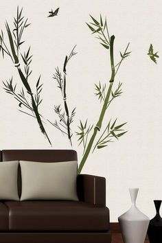 Bamboo Removable Wall Decal Set