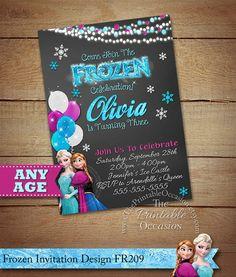 Frozen Birthday Invitation Frozen Birthday by ThePrintableOccasion