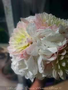 Hydrangea & dahlia bouquet ♡