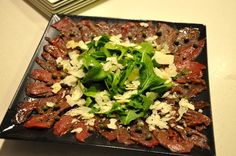 Elk Carpaccio- Wild Game Recipes  http://thehuntinggourmet.com/cooking/elk-carpaccio/