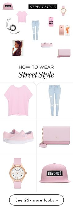 """""""street style #3"""" by maeva-hoarau on Polyvore featuring Pinko, River Island, Vans and Kate Spade"""