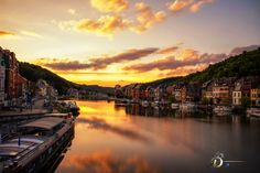 """Burning sky"", Dinant, Belgium by Danny Schurgers on 500px"