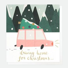 Caroline Gardner Scandi Driving Home For Christmas Cards Pack of 8 - Beaumonde Driving Home For Christmas, Christmas Home, Merry Christmas, Caroline Gardner, Scandinavian Christmas Decorations, Happy New, Charity, Christmas Cards, Greeting Cards