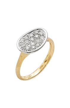 Marco Bicego 'Lunaria' Pavé Diamond Ring available at #Nordstrom