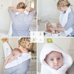 The Puj Hug Infant Hooded Towel keeps you dry during bath time.