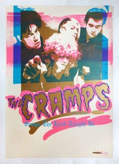 "Paddle8: ""Songs the Lord Taught Us"" Promotional Poster - The Cramps"