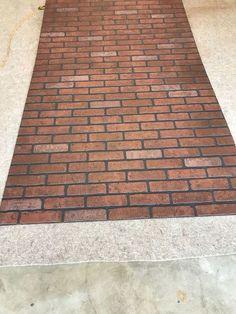 DIY Faux Brick backsplash from faux brick panels Faux Brick Backsplash, Rustic Backsplash, Herringbone Backsplash, Kitchen Backsplash, Backsplash Ideas, Backsplash Arabesque, Backsplash Design, Travertine Backsplash, Blue Backsplash