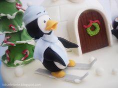xmas penguin cake