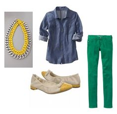 necklace is a must have. Wear can I find a denim shirt??