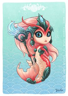 Nami Koi - Fanart League of legends - Chibi by o0dzaka0o.deviantart.com on @DeviantArt