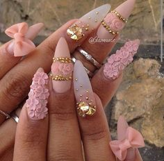 ♡These seem perfect for Rococo style fashion.  If you are gonna do an over the top look! Personally, I would do a milder version of this but with  square shaped nails.