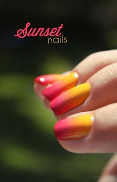 Gradient sunset nails #pshiiit