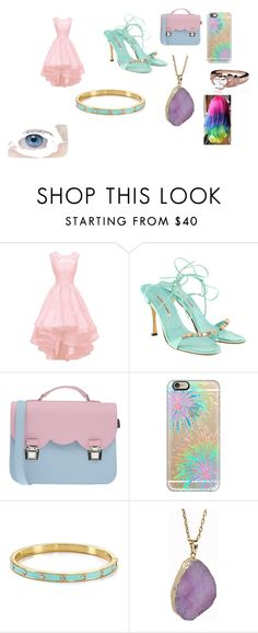"""""""Y/N's party Formal outfit"""" by lizzie12304 on Polyvore featuring Manolo Blahnik, La Cartella, Casetify, Kate Spade, Helix & Felix, women's clothing, women's fashion, women, female and woman"""