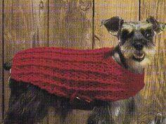 Free Crochet Ribbed Dog Coat Pattern