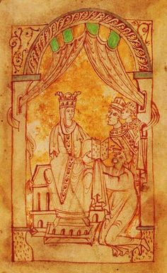 Queen Emma/Aelfgifu of England, wife of King Aethelred and Cnut, mid-1000s