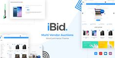 iBid - Multi Vendor Auctions WooCommerce Theme iBid is a professional theme for any kind of auctions marketplace. Now the theme comes with two different multi-vendor auctions demos: Electrons and Automotive Auctions. iBid also comes with functi. Banner, Ecommerce Template, Online Shopping Websites, Page Template, Premium Wordpress Themes, Page Layout, Auction, Ebay, Awesome