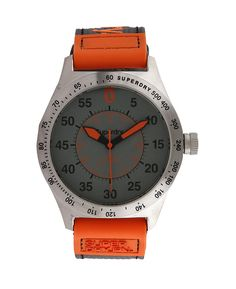 d19ebe54a50 Online Shopping · Gray Syg1220 Watches by Superdry. Analog watch with a  combination of grey and orange color