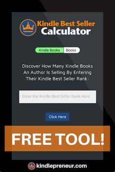 Amazon Sales Rank Calculator | Amazon Best Sellers Rank | Kindle Calculator | Amazon Sales Rank List | Kindle Sales Calculator | Novel Rank | Amazon Book Rankings | KDP Calculator | Amazon Book Sales Rank | Free Software | Book Marketing | Self-Publishing | Indie Authors | Sell eBooks