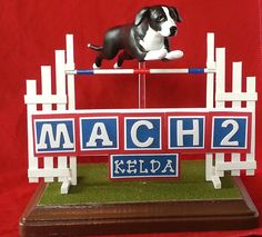 Custom Agility Dog Sculpture Using Your Photos by TheCanineCouture, $55.00