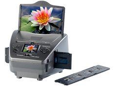Somikon Dia /Foto & Negativ Scanner SD 1400 mit 14 MP Sensor, SD Karte