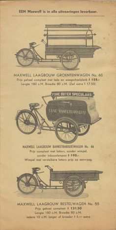 Prijscourant Maxwell 1939 | transportfiets.net