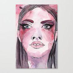 Watercolor Portrait of a Girl Canvas Print Watercolor Portraits, Canvas Prints, Art, Art Background, Photo Canvas Prints, Kunst, Performing Arts