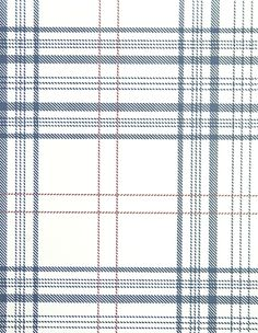 Rakel Plaid Wallpaper White And Blue With Red Window Check