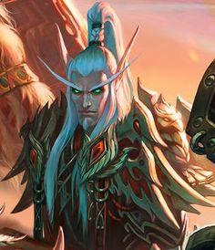 World Of Warcraft. Lor'themar Theron (Regent Lord of Quel'Thalas) Warcraft Dota, Art Warcraft, World Of Warcraft Game, Blood Elf, Blizzard Wow, Elf Warrior, Night Elf, Dark Elf, Wow Art