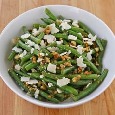 green bean salad with walnuts parmesan and mint more soup salads sides ...