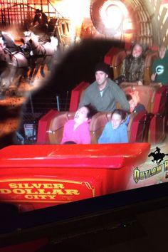 The funniest thing.....silver Dollar City, Fall 2014. Maria's first roller coaster ride!