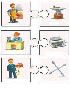 This page has a lot of free easy Community helper puzzle for kids,parents and preschool teachers. Bilingual Kindergarten, Kindergarten Math Worksheets, Puzzles For Kids, Games For Kids, Learn Greek, Community Helpers Preschool, My Little Pony Birthday Party, English Fun, Speech Therapy