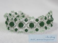 bead_tutorial: [Tutorial] Crystal Bracelet #15 - beginner bracelet; uses 3 Swarovski Bicone sizes