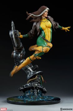 Marvel Rogue Maquette by Sideshow Collectibles Coleccionables Sideshow, Sideshow Statues, Sideshow Collectibles, Star Wars Poster, Star Wars Art, Star Trek, Zbrush, 3d Pose, Crazy Toys