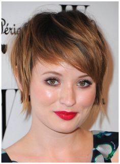 flattering haircuts for round face heavy set women | short hairstyles for fat faces women