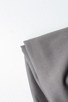 Mind the Maker Washed Cotton Twill, 9oz — Dark Grey SGS certified