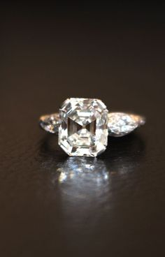 119 Best Asscher Cut Engagement Ring Images On Pinterest Jewelry
