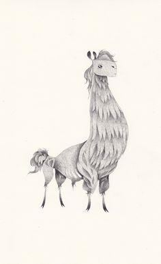 Yohan Sacré - unpoildanslamain. - es una ilustradora y novelista gráfica. Actualmente ubicada en Namur, Bélgica.    Titulo: Lama    http://www.yohansacre.com/