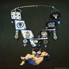 Купить Колье с кристаллами Сваровски Сня владыки Пакаля в интернет магазине на Ярмарке Мастеров