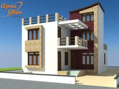 3 Bedrooms Duplex House Design in 234 sq mt area.  View the Floor Plan here: http://www.apnaghar.co.in/house-design-133.aspx  Call Toll-Free No.- 1800-102-9440 Email: support@apnaghar.co.in