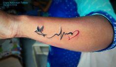 #lifeline #hart #bird Music Tattoo Designs, Tattoo Designs Wrist, Wrist Tattoos, Dainty Tattoos, Dope Tattoos, Small Tattoos, Tattos, Lifeline Tattoos, Infinity Tattoos
