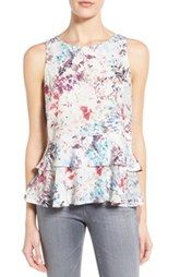 Willow & Clay Double Peplum Sleeveless Top