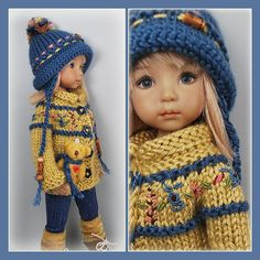 American Doll Clothes, Ag Doll Clothes, Crochet Doll Clothes, Knitted Dolls, Crochet Dolls, Gotz Dolls, Ag Dolls, Pretty Dolls, Beautiful Dolls