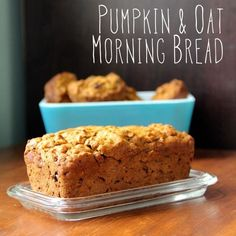 {Pumpkin & Oat Morning Bread Recipe} A little sweet, a little spicy, this bread makes a tasty and hearty addition to breakfast with a touch of cream cheese or nut butter. It can also be made gluten or dairy-free quite easily (and still tastes great!)