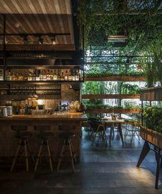 Дизайн интерьера ресторана в стиле оранжереи