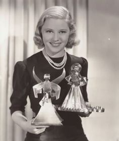 Mary Carlisle and her Christmas angels - 1930s
