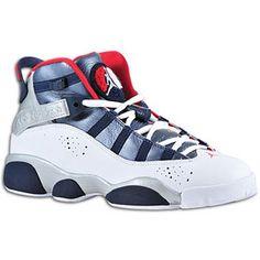 Jordan 6 Rings - Boys' Grade School - White/Varsity Red/Midnight Navy/Metallic Silver