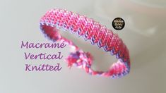 DIY Tutorial Macramé Vertical Knitted