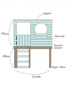 DIY: Sweet playhouse - Private House and Garden Diy Playhouse, Playhouse Outdoor, Backyard Playground, Backyard For Kids, Cubby Houses, Play Houses, Casa Kids, Wendy House, Kids Play Area