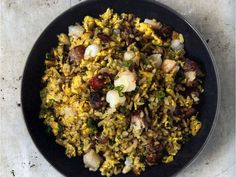 Yangzhou Fried Rice from China The Cookbook by Kei Lum Chan and Diora Fong Chan.